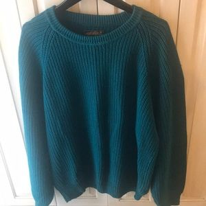Men's Vintage xl EDDIE BAUER TEAL/Turq sweater